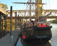 Hawaiian Chieftan Ties up in Old Sacramento Credit Barbara Steinberg