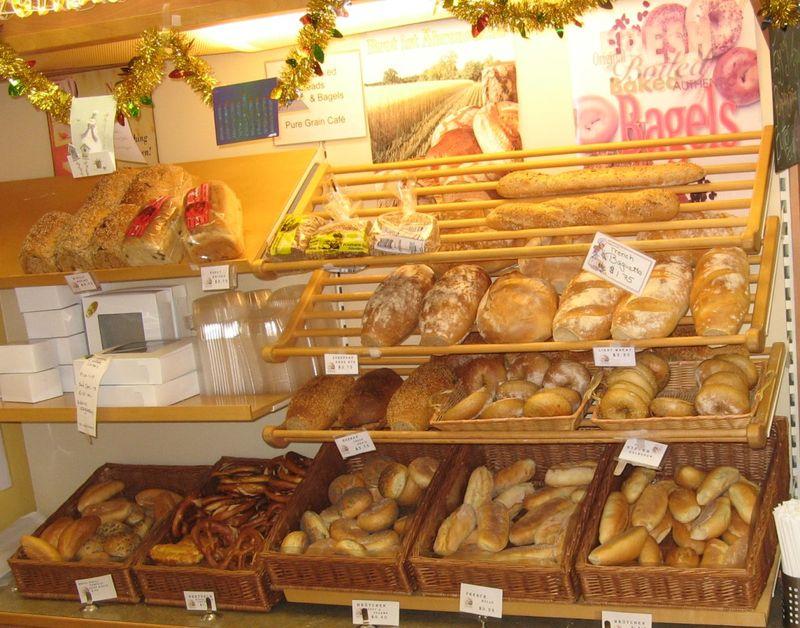 Pure Grain Bakery Bread Display Credit Barbara Steinberg 2008