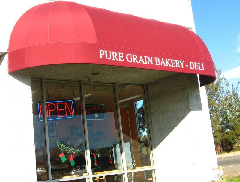 Pure Grain Bakery Sign Vaca Valley Road Credit Barbara Steinberg  2008