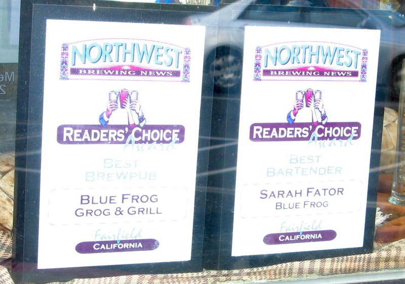 Fairfield California Big Blue Frog Award Northwest Brew News Credit Barbara Steinberg 2008