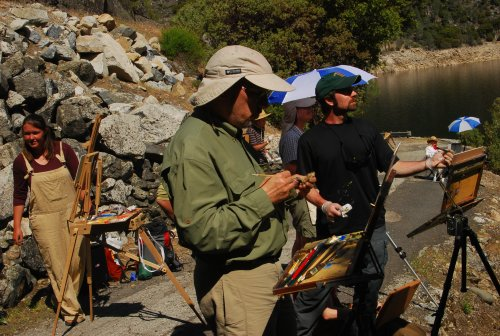 Y Explore Plein Air Event at Hetch Hetchy James McGrew is the painter with the green cap Credit John DeGrazio small