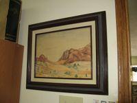Carroll Thomas First Painting Hangs in his Big Pine Studio Credit Barbara Steinberg