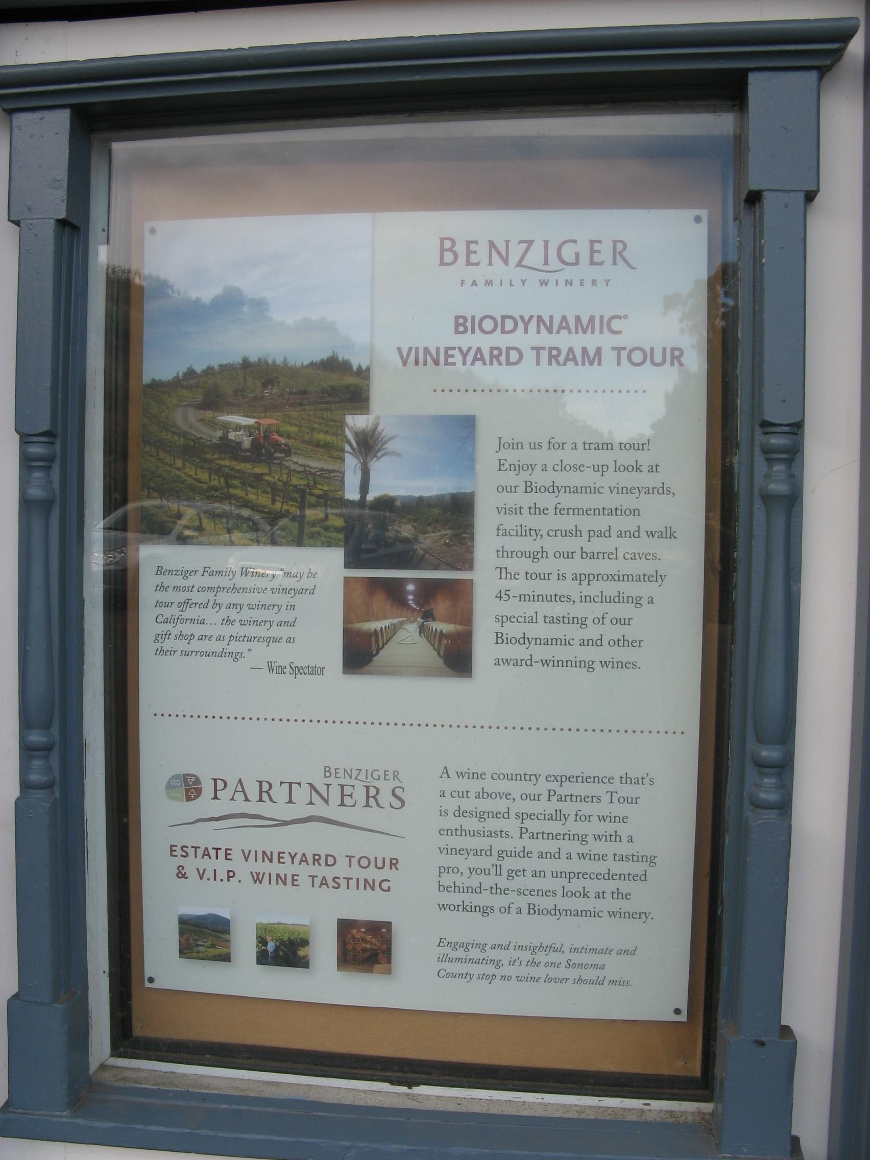 Benziger Biodynamic Winery