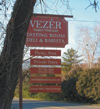 Fairfield Suisun Valley Vezer Family Vineyard Sign Credit Ba
