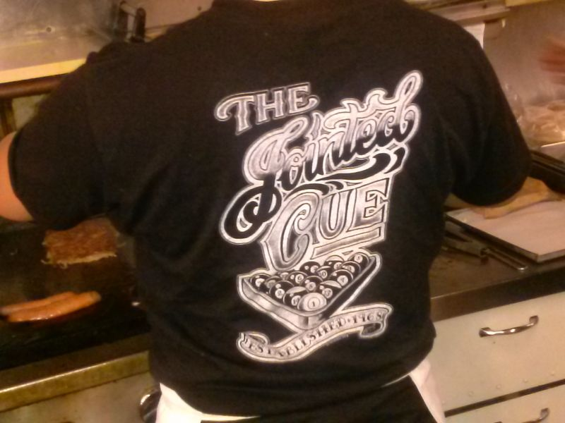 Jointed cue logo shirt