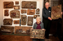 Tom and Sally Myers wood sculptures