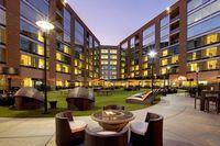8 University Lofts Courtyard Courtesy of University Plaza Waterfront Hotel