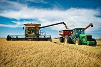 Rice harvesting in Robbins, Sutter County. Photo courtesy California Rice Commission 2