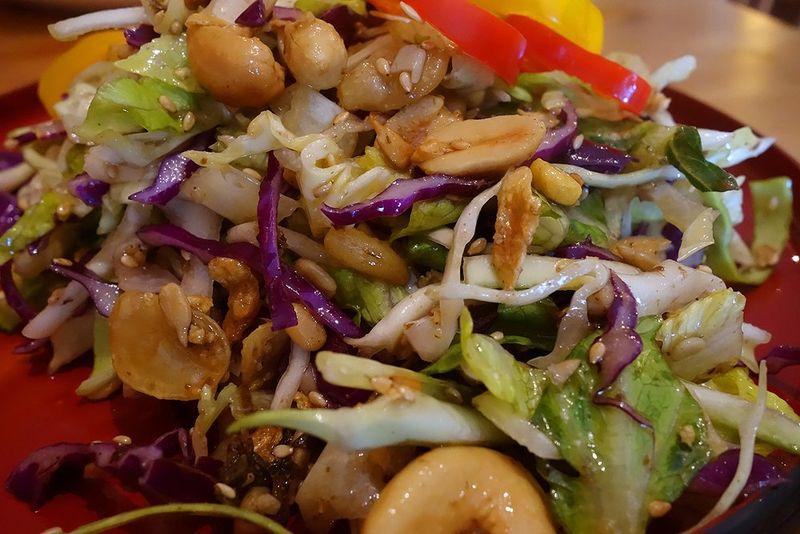 Tea leaf salad Credit Tesssa B