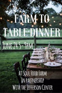 Soul Food Farm Dinner