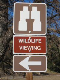 California Watchable Wildlife Viewing Sign
