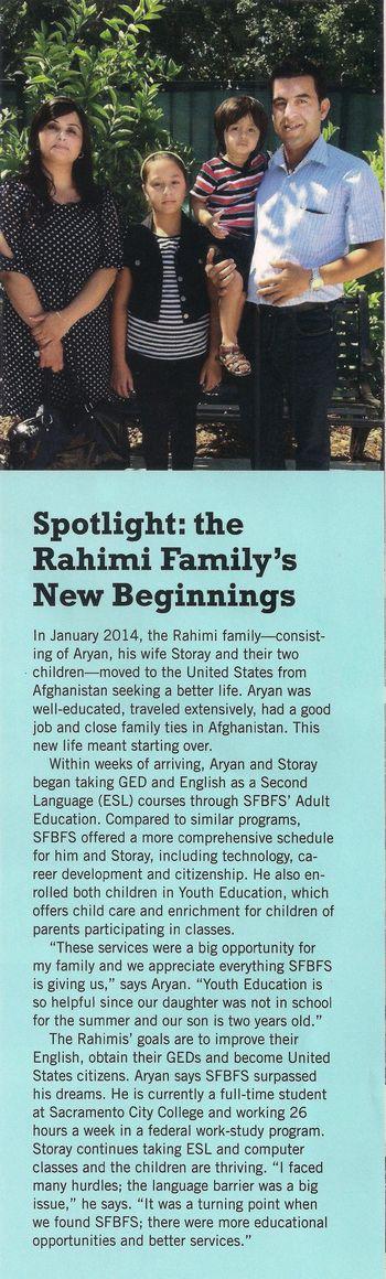 Spotlight the Rahimi family
