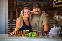 Embracing the farm-to-glass experience Catherine and Michael Johnson converted their big red barn into the GoatHouse brewery and tasting room Credit GoatHouse Brewing