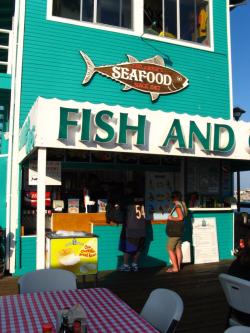 Catalina Fish Tacos on the Green Pier Credit Barbara Steinberg