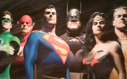 Alex Ross JLA The Original Seven 2000 Collection of the artist Credit Barbara L Steinberg