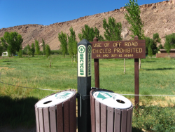 Lower Owens River Pleasant Valley Campground Recycle Credit Barbara Steinberg