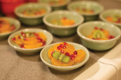 Spiced mandarins with pomegranate and kiwi Photo Credit Sutter Photography