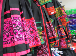 3 GP Fabric Hmong Costumes  Restaurant Credit www.AreYouThatWoman.com