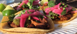 Pork Belly Taco with pickled onions Credit Are You That Woman