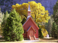 Yosemite Chapel  Fall Color Credit Kenny Karst [1]