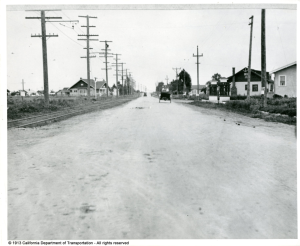 Stockton Blvd (circa 1913) south of 14th Ave Courtesy of California Dept Transportation