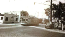 From the end of the line on 21st Ave CCT streetcars turned north on Stockton Blvd (circa 1940)