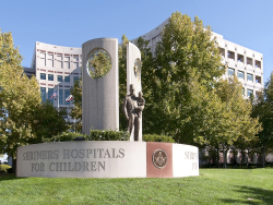 Shriners Hospital Statue and Emblem Courtesy of Shriners Hospitals for Children — Northern California