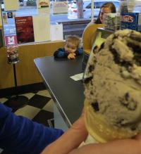 2 year old Joshua wants Vic's ice cream Credit AreYouThatWoman.com