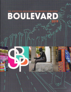 Stockton Boulevard Directory Cover 2019 Credit Circle Design Photo Credits Don Meyers and Barbara L Steinberg