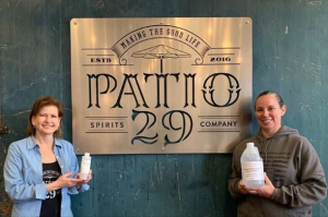 Patio29 Sanitizer Donated to Sacramento City Police Department