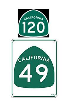 Hwy 120 49 Signs